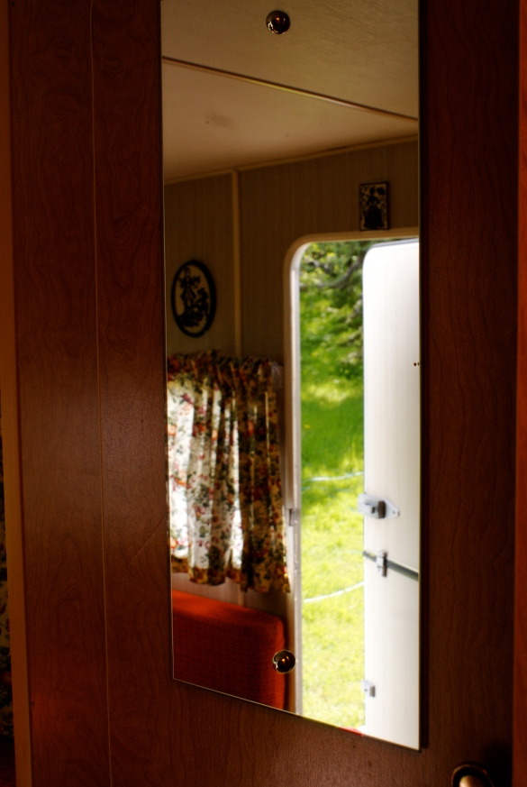 Mirror in the caravan